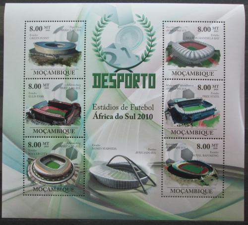 Poštovní známky Mosambik 2010 Fotbalové stadióny Mi# 3663-68 Kat 10€