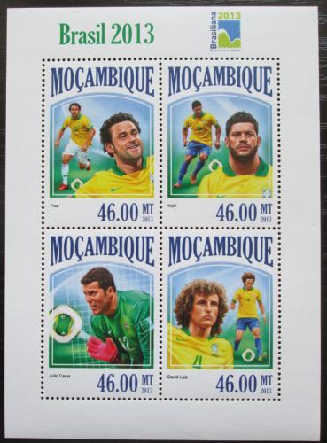 Poštovní známky Mosambik 2013 Konfederaèní pohár, fotbal Mi# 6932-35 Kat 11€