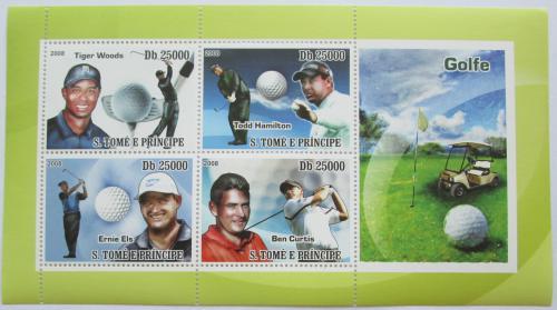 Poštovní známky Svatý Tomáš 2008 Slavní golfisti Mi# 3624-27 Kat 12€