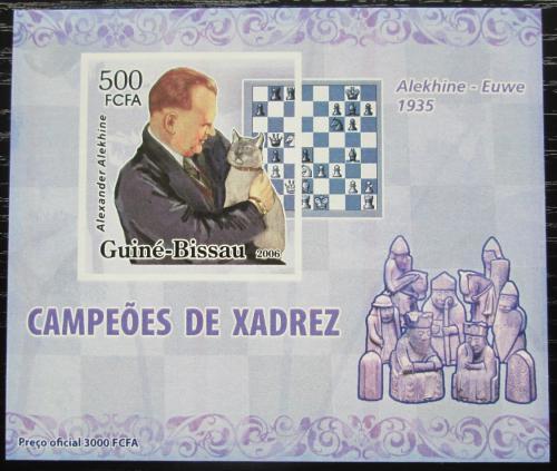 Poštovní známka Guinea-Bissau 2006 Alexandr Aljechin neperf. Mi# 3446 B Block