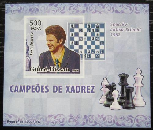 Poštovní známka Guinea-Bissau 2006 Boris Spasskij neperf. Mi# 3447 B Block