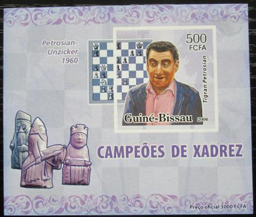 Poštovní známka Guinea-Bissau 2006 Tigran Petrosian neperf. Mi# 3448 B Block