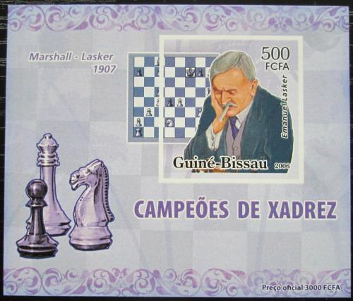 Poštovní známka Guinea-Bissau 2006 Emanuel Lasker neperf. Mi# 3449 B Block