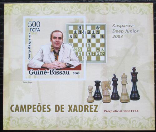 Poštovní známka Guinea-Bissau 2006 Garri Kasparov neperf. Mi# 3451 B Block