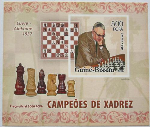 Poštovní známka Guinea-Bissau 2006 Max Euwe neperf. Mi# 3456 B Block
