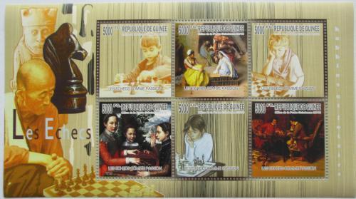 Poštovní známky Guinea 2010 Dìti a šachy Mi# 7459-64 Kat 12€