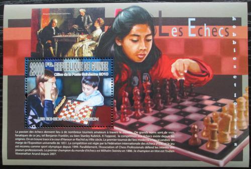 Poštovní známka Guinea 2010 Dìti a šachy Mi# Block 1817 Kat 10€