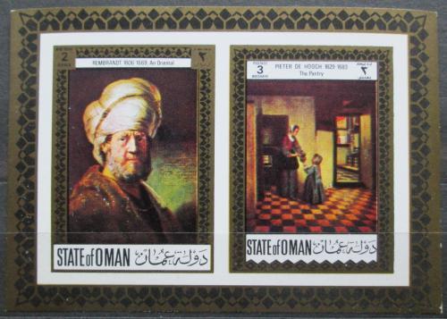 Poštovní známka Omán 1968 Umìní, Rembrandt neperf. Mi# N/N