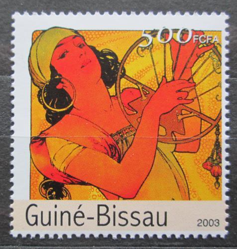 Poštovní známka Guinea-Bissau 2003 Umìní, Alfons Mucha Mi# 2556