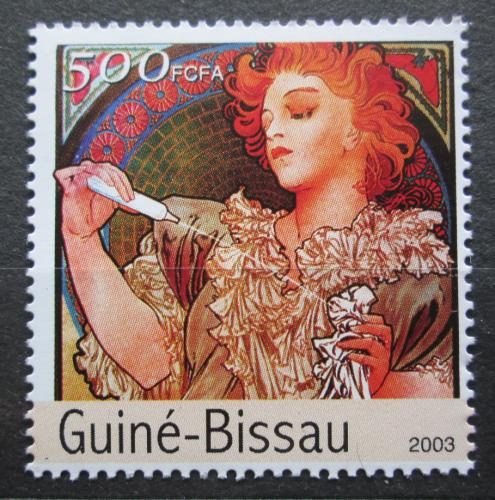 Poštovní známka Guinea-Bissau 2003 Umìní, Alfons Mucha Mi# 2557