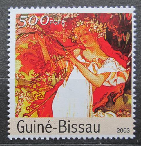 Poštovní známka Guinea-Bissau 2003 Umìní, Alfons Mucha Mi# 2559