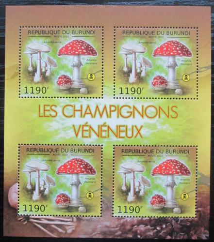 Poštovní známky Burundi 2012 Muchomùrka jarní Mi# 2744 Bogen