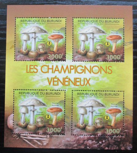 Poštovní známky Burundi 2012 Muchomùrka zelená Mi# 2746 Bogen