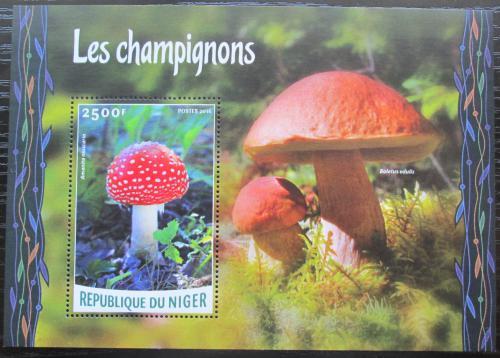 Poštovní známka Niger 2016 Houby Mi# Block 524 Kat 10€