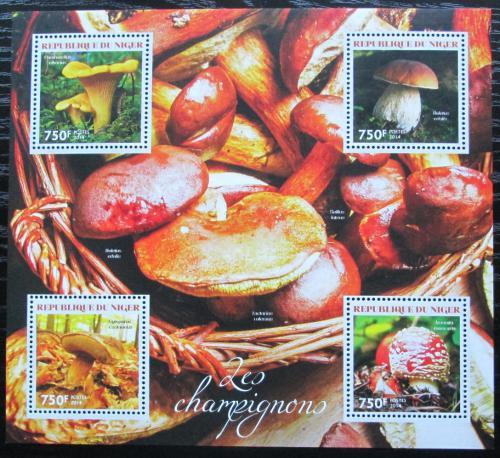 Poštovní známky Niger 2014 Houby Mi# 2912-15 Kat 12€