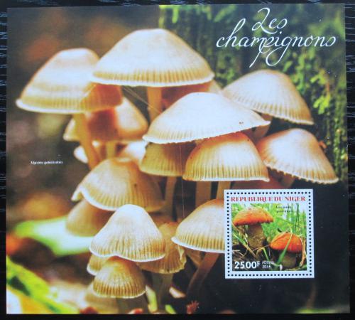 Poštovní známka Niger 2014 Houby Mi# Block 326 Kat 10€
