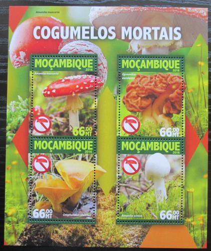 Poštovní známky Mosambik 2016 Jedovaté houby Mi# 8304-07 Kat 15€