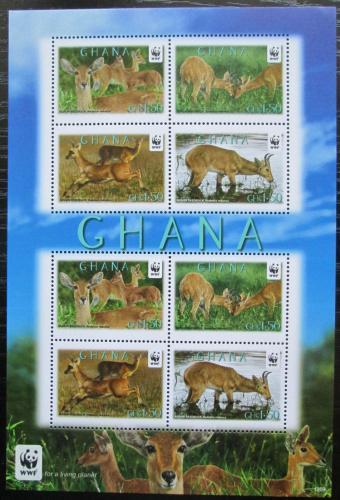 Poštovní známky Ghana 2012 Bahnivec severní, WWF Mi# 4168-71 Bogen
