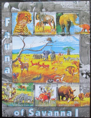 Poštovní známky Kyrgyzstán 2004 Fauna savany Mi# N/N