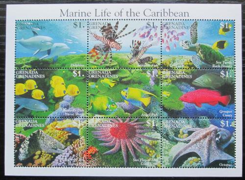 Poštovní známky Grenada Gren. 1995 Moøská fauna Mi# 2021-29 Kat 10€