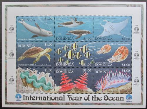 Poštovní známky Dominika 1998 Moøská fauna Mi# 2583-91