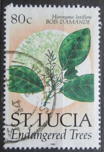 Poštovní známka Svatá Lucie 1990 Hieronyma laxiflora Mi# 969 I
