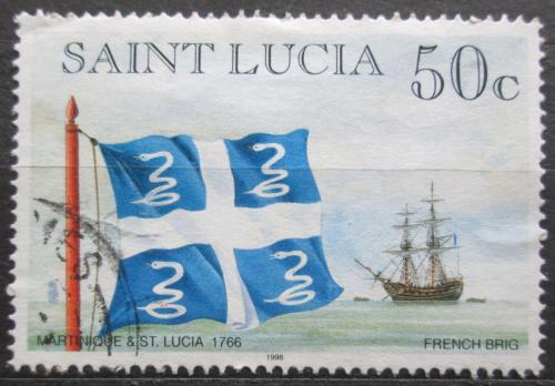 Poštovní známka Svatá Lucie 1998 Vlajka Martinik a Svatá Lucie Mi# 1061 II