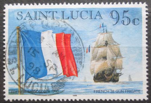 Poštovní známka Svatá Lucie 1996 Francouzská vlajka Mi# 1065 I