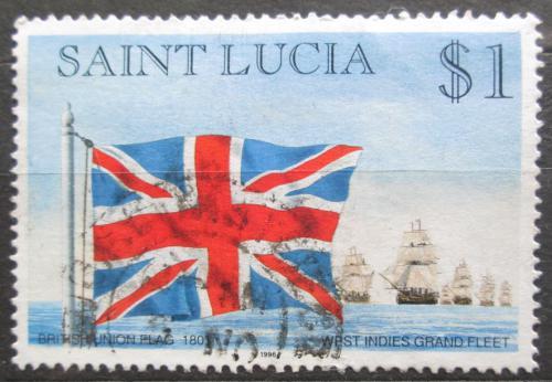 Poštovní známka Svatá Lucie 1996 Britská vlajka Mi# 1066 I