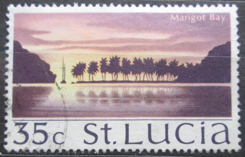 Poštovní známka Svatá Lucie 1970 Záliv Marigot Mi# 262 X
