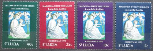 Poštovní známky Svatá Lucie 1970 Vánoce, umìní, Luca della Robbia Mi# 278-81