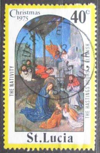 Poštovní známka Svatá Lucie 1975 Vánoce, narození Krista Mi# 370