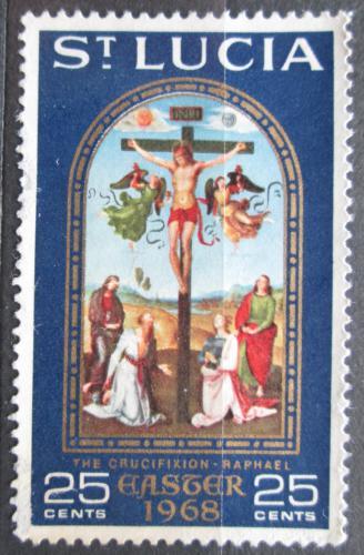 Poštovní známka Svatá Lucie 1968 Velikonoce, ukøižování Krista, Raffael Mi# 225