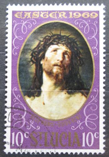 Poštovní známka Svatá Lucie 1969 Velikonoce, umìní, Guido Reni Mi# 237
