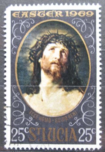 Poštovní známka Svatá Lucie 1969 Velikonoce, umìní, Guido Reni Mi# 239