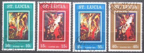 Poštovní známky Svatá Lucie 1971 Velikonoce, umìní, Rubens Mi# 282-85