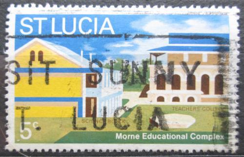 Poštovní známka Svatá Lucie 1972 Vzdìlávací centrum v Morne Mi# 308