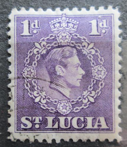 Poštovní známka Svatá Lucie 1938 Král Jiøí VI. Mi# 100 A