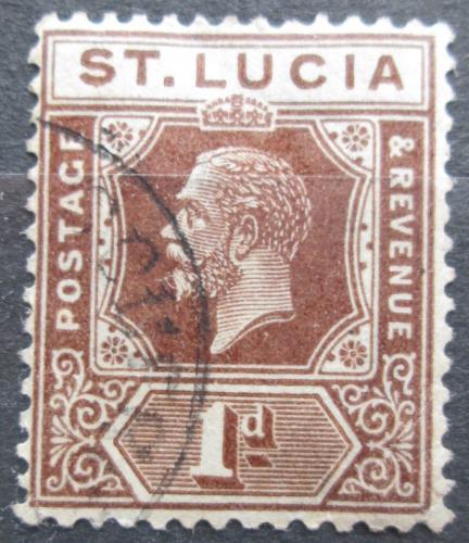 Poštovní známka Svatá Lucie 1922 Král Jiøí V. Mi# 68