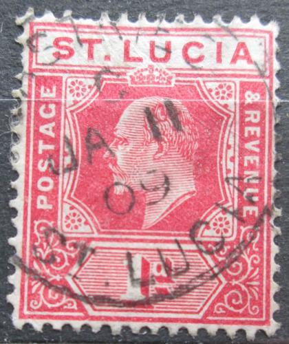 Poštovní známka Svatá Lucie 1907 Král Edward VII. Mi# 48