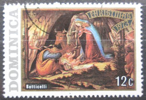 Poštovní známka Dominika 1973 Vánoce, umìní, Botticelli Mi# 375