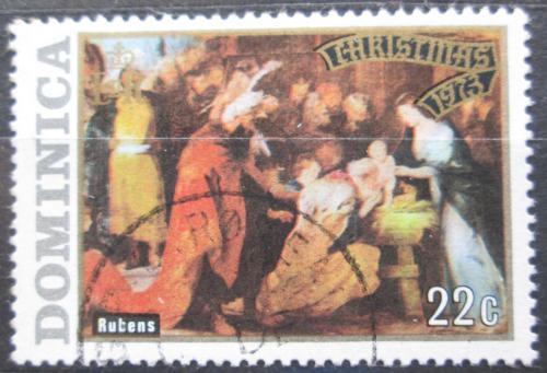 Poštovní známka Dominika 1973 Vánoce, umìní, Rubens Mi# 376