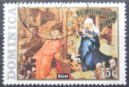 Poštovní známka Dominika 1973 Vánoce, umìní, Dürer Mi# 377