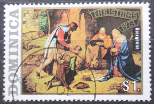 Poštovní známka Dominika 1973 Vánoce, umìní, Giorgione Mi# 378