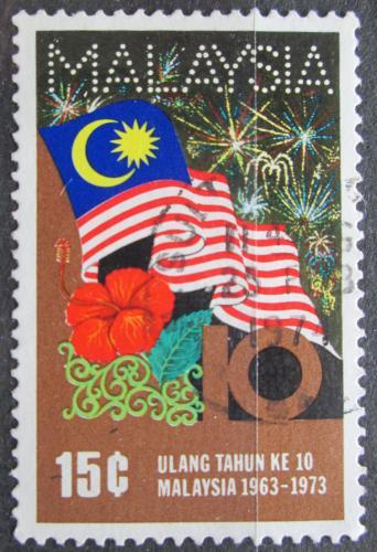 Poštovní známka Malajsie 1973 Státní vlajka Mi# 105