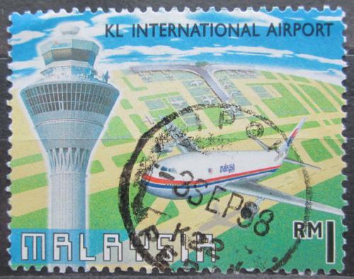 Poštovní známka Malajsie 1998 Letadlo Airbus A 330 Mi# 693