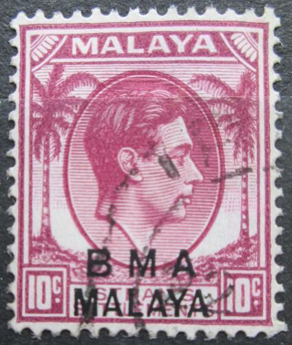 Poštovní známka Malajsie, britská správa 1945 Král Jiøí VI. pøetisk Mi# 7 Ia