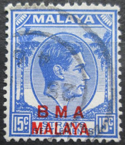 Poštovní známka Malajsie, britská správa 1945 Král Jiøí VI. pøetisk Mi# 9 ay