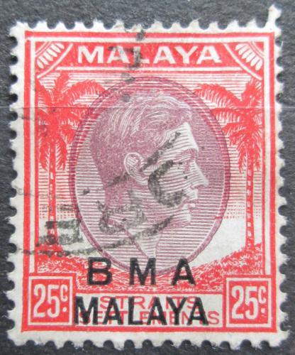 Poštovní známka Malajsie, britská správa 1945 Král Jiøí VI. pøetisk Mi# 10