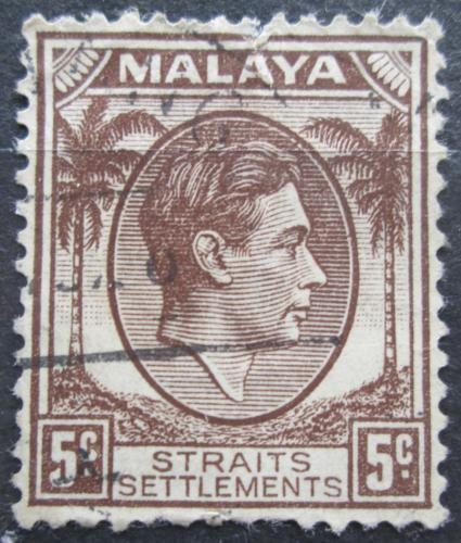 Poštovní známka Prùlivové osady 1937 Král Jiøí VI. Mi# 215 I